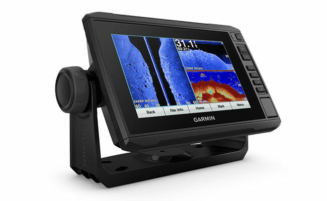 Garmin echoMAP 73sv side view