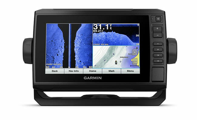 Garmin echoMAP 73sv sonar on the Display