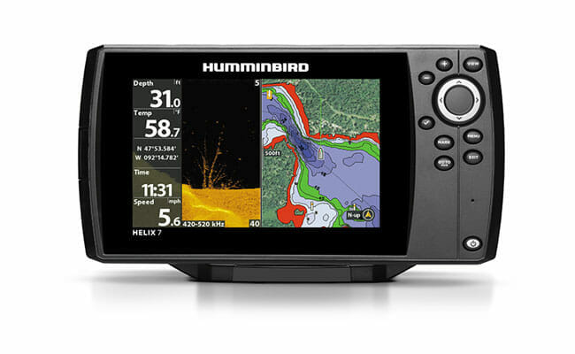 Humminbird Helix 7 CHIRP Si GPS G2 on the white background