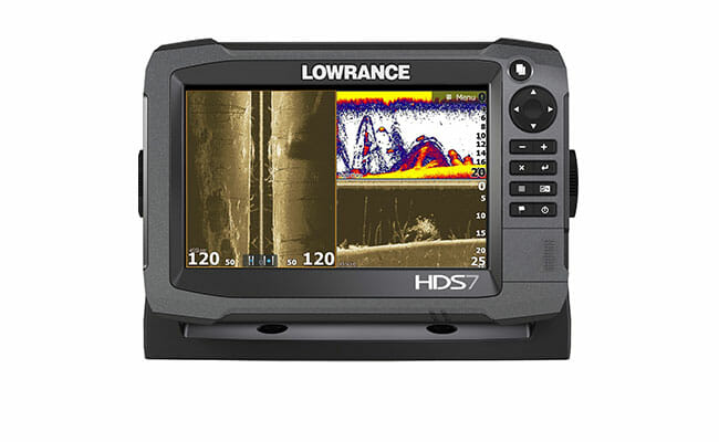 Lowrance HDS-7 Gen3 with sonar on display
