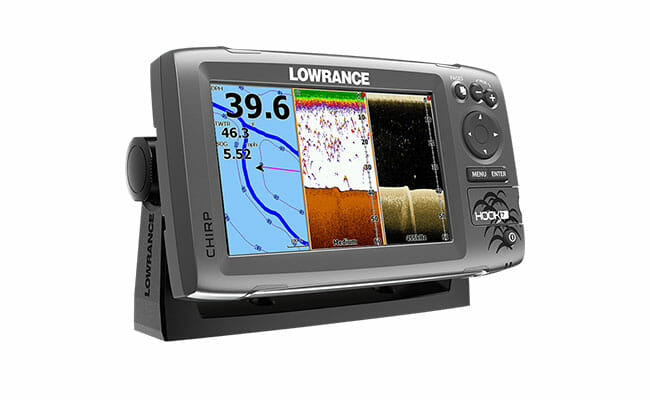 Lowrance Hook 7 with sonar on display