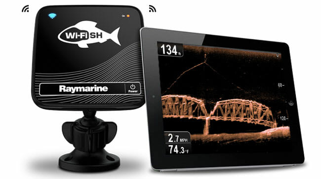 Raymarine Wi-Fish with tablet