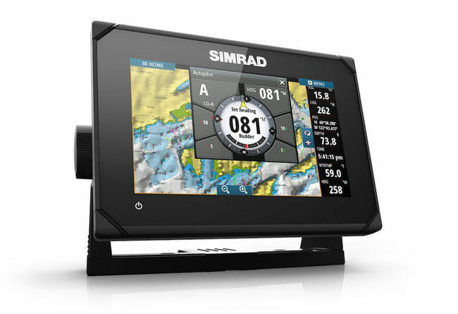 Simrad GO7 XSE side view