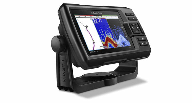 Garmin Striker-5dv sonar view on display