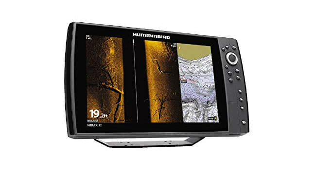 Humminbird HELIX 12 with sonar side view