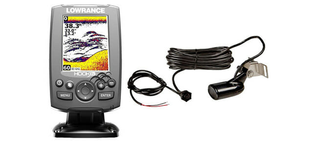 Lowrance Hook-3x with holder and cable